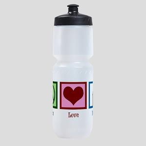 Peace Love Debate Sports Bottle
