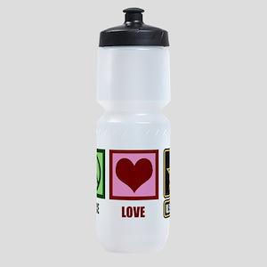 Peace Love Army Sports Bottle
