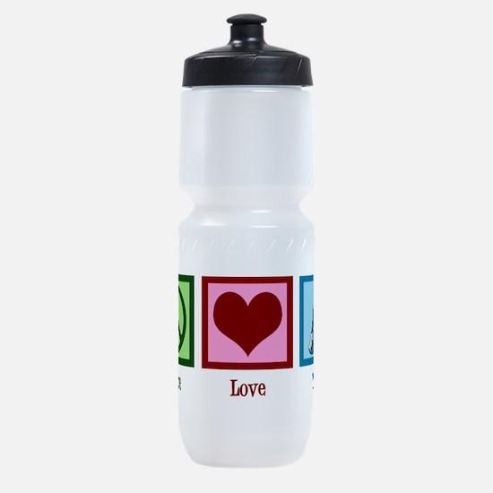 Peace Love Yoga Sports Bottle