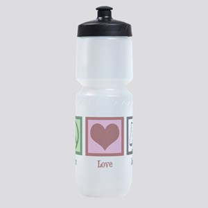 Peace Love Justice Sports Bottle
