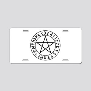Rune Shield Pentacle Aluminum License Plate