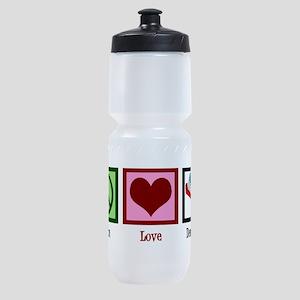 Peace Love Dentistry Sports Bottle