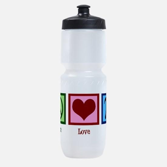 Peace Love Pi Sports Bottle