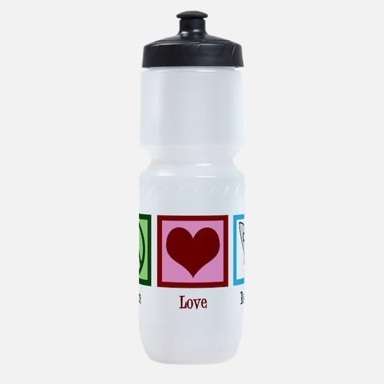 Peace Love Rockets Sports Bottle