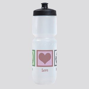 Peace Love Recycle Sports Bottle