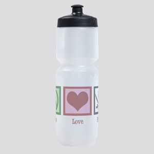 Peace Love Pirates Sports Bottle