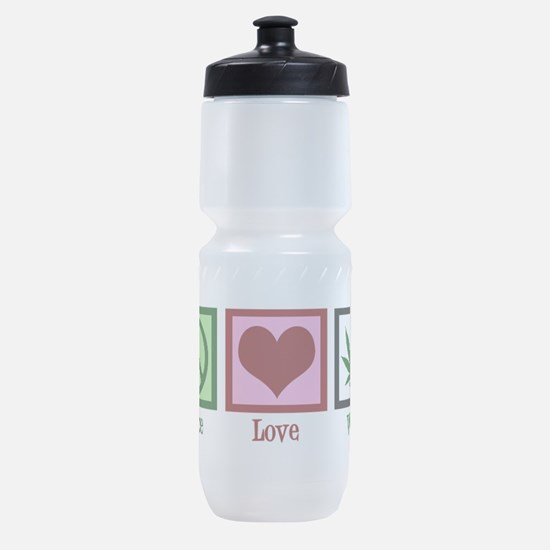 Peace Love Weed Sports Bottle