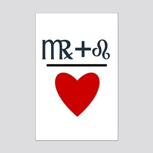 Virgo + Leo = Love Mini Poster Print