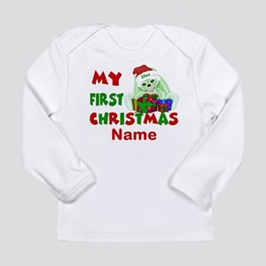 1st Christmas Bunny Personalized Long Sleeve T-Shi