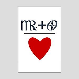 Virgo + Cancer = Love Mini Poster Print