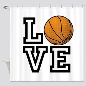 Love Basketball Shower Curtain