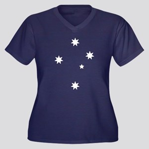 Southern Cross Stars Women's Plus Size V-Neck Dark