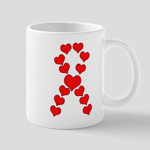 Heart Ribbon Mugs