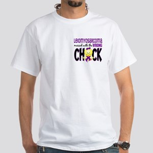 Leiomyosarcoma Messed w/Wrong Chick White T-Shirt
