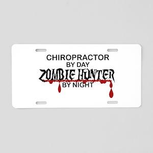 Zombie Hunter - Chiropractor Aluminum License Plat