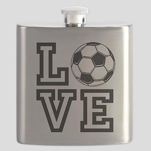 Love Soccer Flask