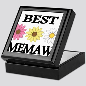 BEST MEMAW WITH FLOWERS Keepsake Box