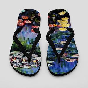 Monet Waterlilies Flip Flops