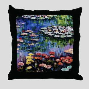 Monet Waterlilies Throw Pillow