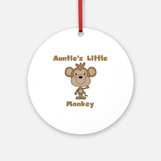 Auntie's Little Monkey Ornament (Round)