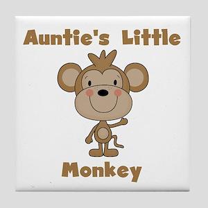 Auntie's Little Monkey Tile Coaster