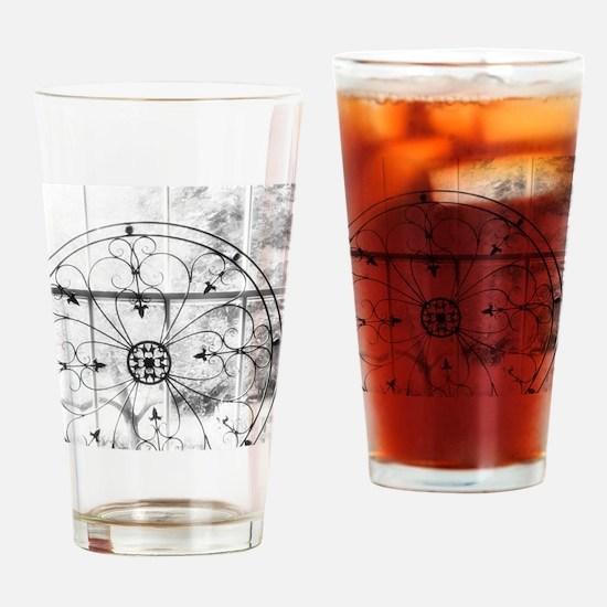 Window lit wheel Drinking Glass