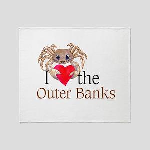I Heart OBX Throw Blanket