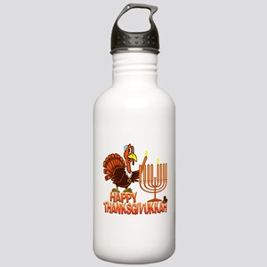 Happy Thanksgivukkah Water Bottle