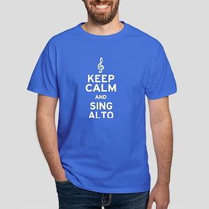 Keep Calm Sing Alto Dark T-Shirt