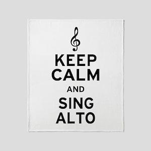 Keep Calm Sing Alto Throw Blanket