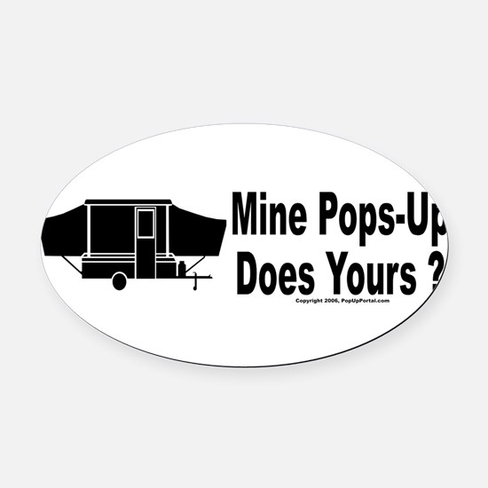 Cool Camping Oval Car Magnet