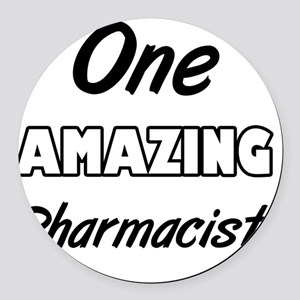One Amazing Charge Nurse Round Car Magnet