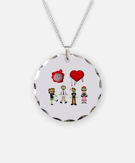 Eye Heart Zombies Necklace