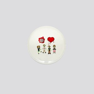 Eye Heart Zombies Mini Button