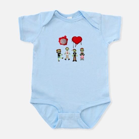 Eye Heart Zombies Infant Bodysuit