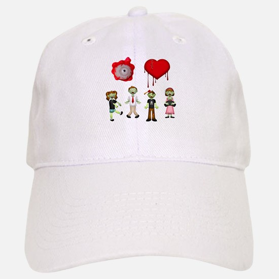 Eye Heart Zombies Baseball Baseball Cap