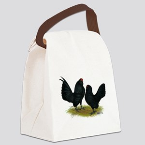 DAnvers Black Bantams Canvas Lunch Bag