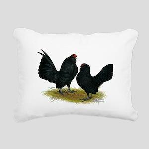 DAnvers Black Bantams Rectangular Canvas Pillow