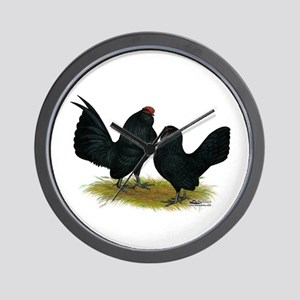 Danvers Black Bantams Wall Clock