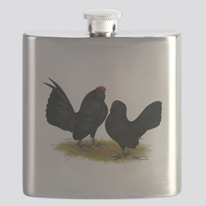 DAnvers Black Bantams Flask