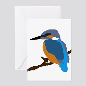 kingfisher bird waiting for love peace joy Greetin
