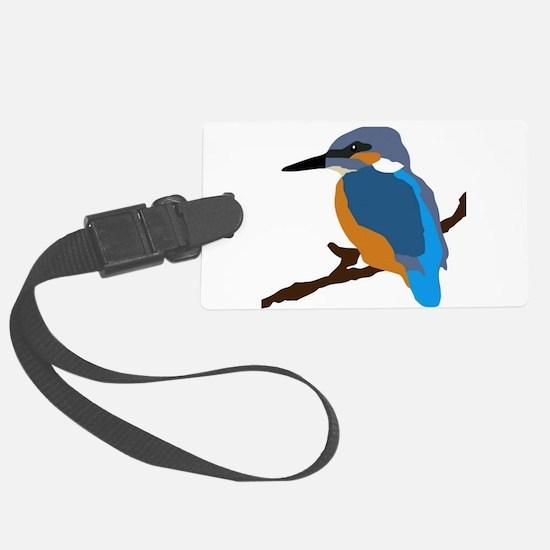 kingfisher bird waiting for love peace joy Luggage Tag