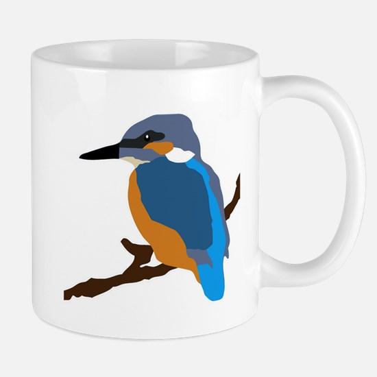 kingfisher bird waiting for love peace joy Mugs