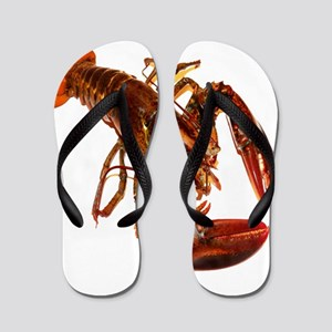 lobster confidence and peace Flip Flops