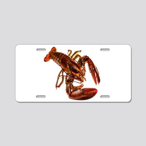lobster confidence and peace Aluminum License Plat