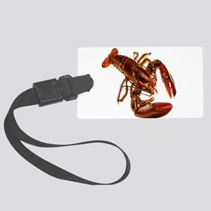 lobster confidence and peace Large Luggage Tag