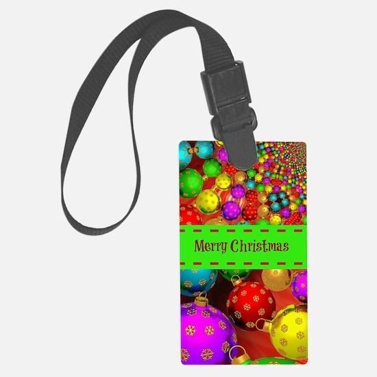 Merry Christmas, Colorful Christ Luggage Tag
