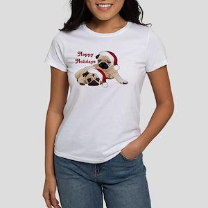 Happy Holidays 2 Pugs T-Shirt
