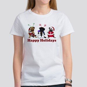 Three Holiday Pugs Women's T-Shirt