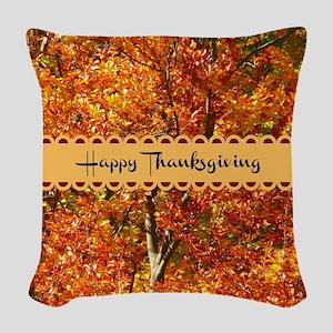 Happy Thanksgiving - Autumn Co Woven Throw Pillow